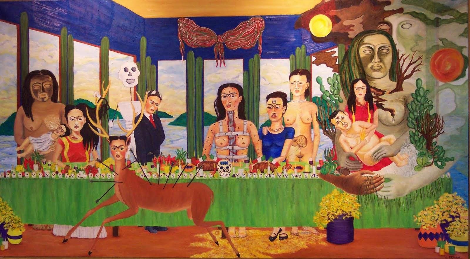 A Última Ceia - Frida Kahlo e suas pinturas ~ Pintora comunista e revolucionária