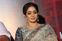 Sri Devi in designer saree stunning beauty at the launch of MOM movie Trailer~  Exclusive 049.JPG