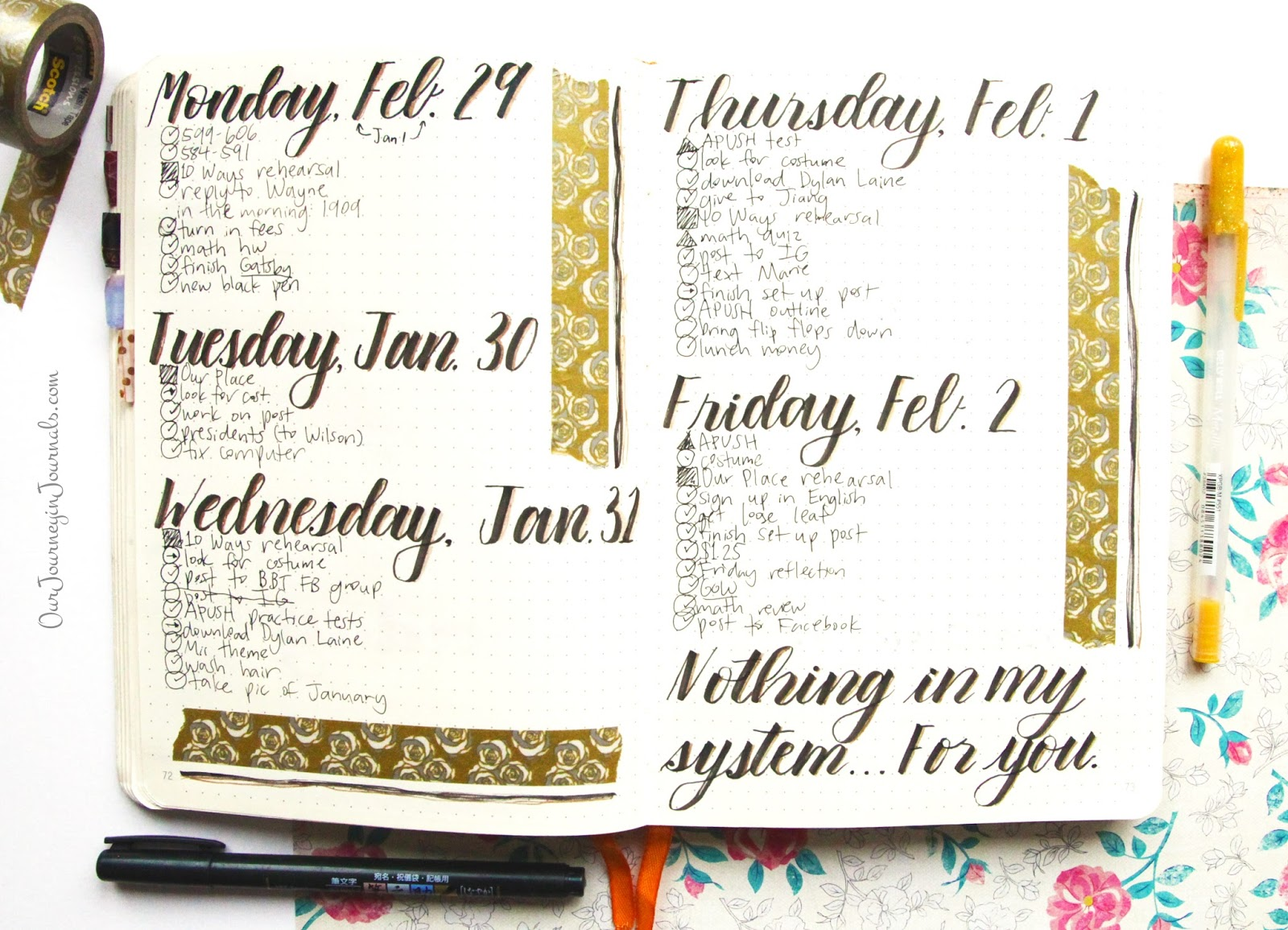 Our Journey In Journals 5 Tips For Bullet Journal Beginners