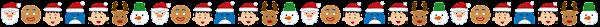 クリスマスのライン素材(クリスマスのキャラクター)