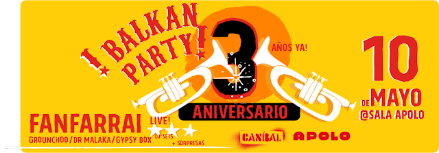 3er Aniversario Balkan Party Barcelona