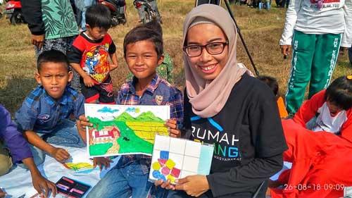 Rumah Pelangi Bekasi Gelar Pojok Literasi Saat Pilkades