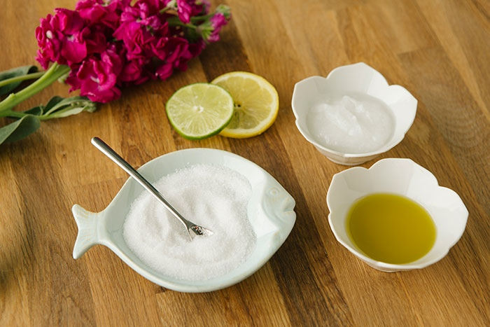 homemade sugar body scrub