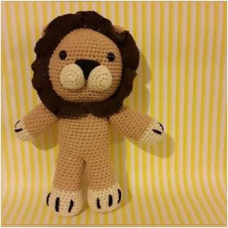 patron amigurumi Floripondio, el león monoceros