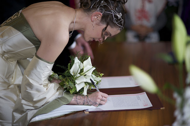 diadème Frondaisons lors d'un mariage