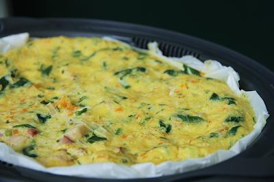 Omelete ao Vapor com Legumes