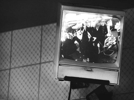 black and white photography, contemporary, cctv, television, surveillance camera, Sam Freek,
