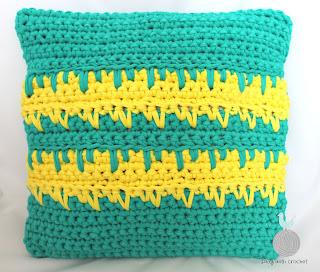 Turkusowo-żółta poduszka