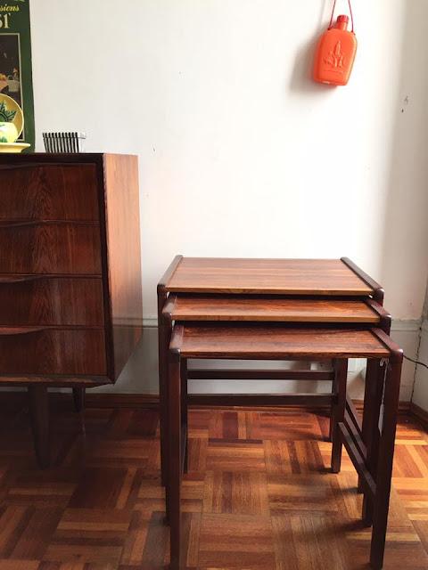 design nórdico, mesa mãe, mesa ninho, pau santo, nest table, vin tage