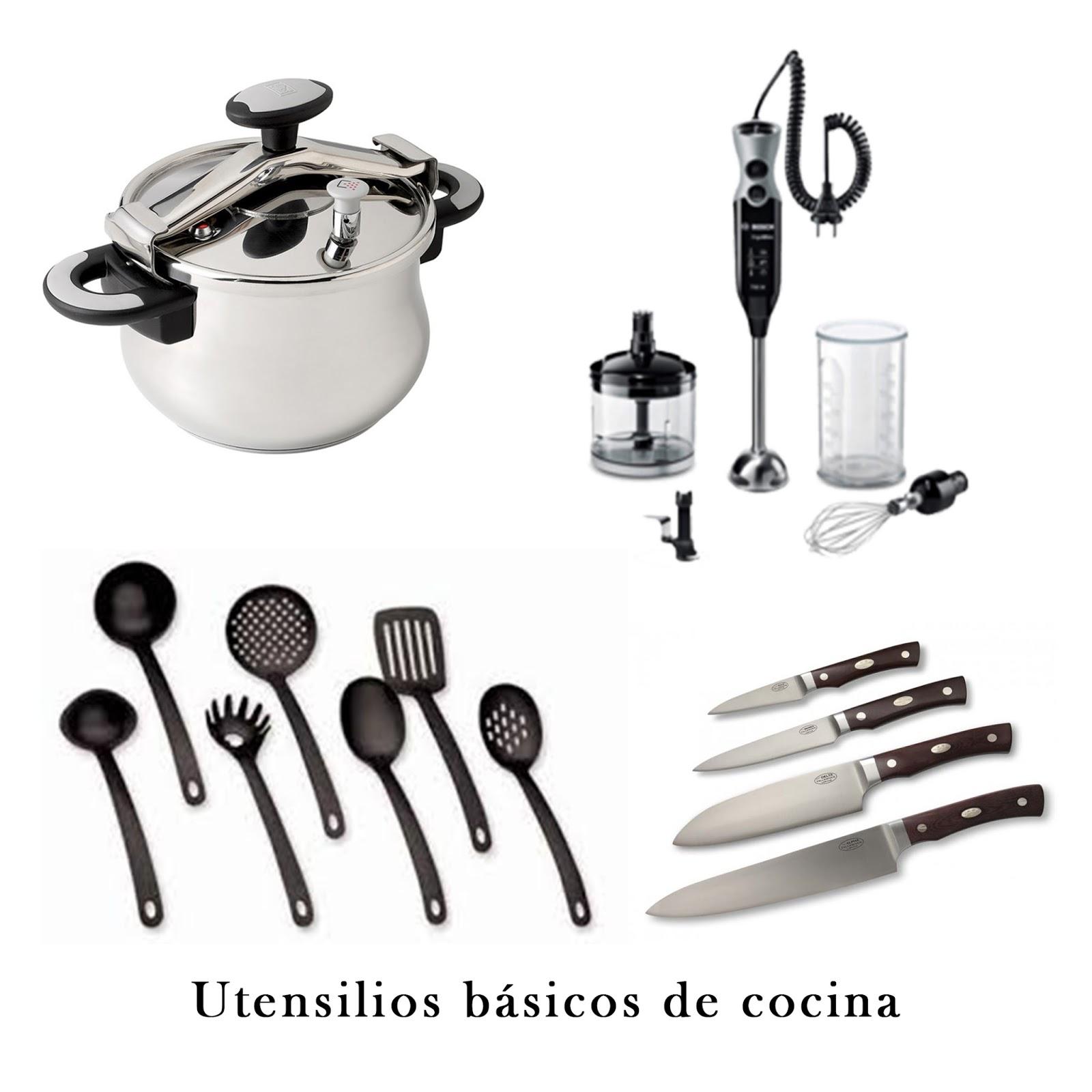 Cocina con pocos recursos: Utensilios basicos de cocina