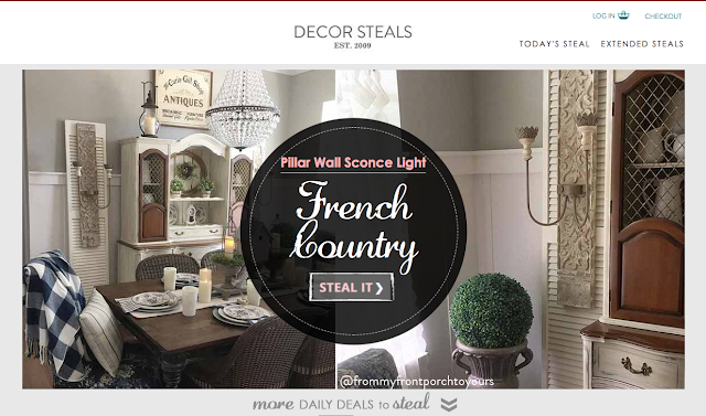 Decor Steals-Rustic Pillar Wall Sconce-French Farmhouse-Dining Room-From My Front Porch To Yours