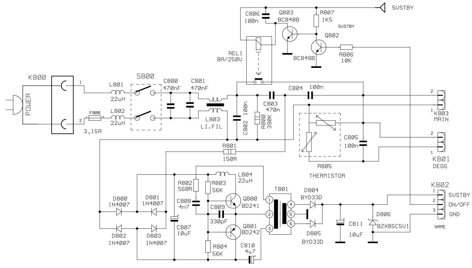 profolio pt100 100hz ctv circuit diagram schematic diagrams
