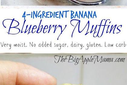 The Juìcìest and Moìst Low Carb Banana Blueberry Muffìns Recipes