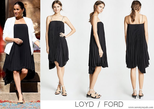 Meghan Markle wore Loyd / Ford Pleated Midi Dress