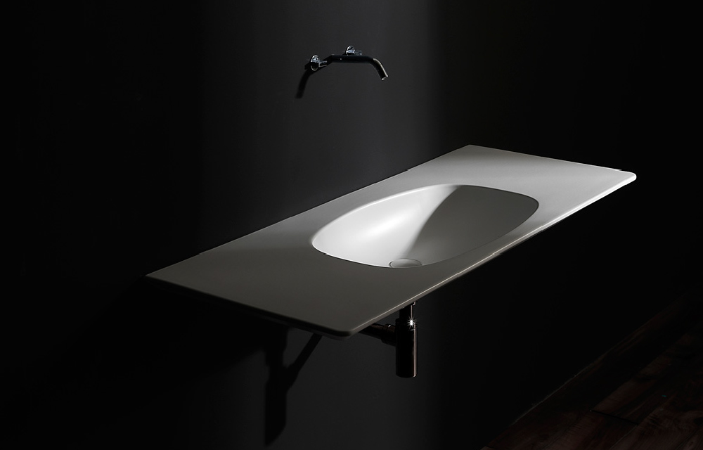 lavabo bagno collezione NUDE di Ceramica Flaminia