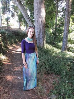 De top a vestido de falda larga
