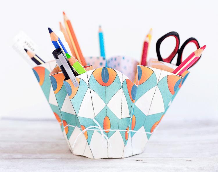 Aufbewahrung aus einem Bogen Papier | Make a paper storage