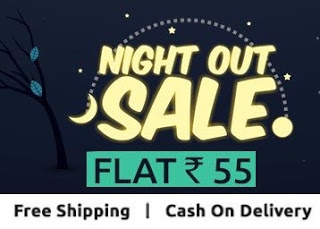 Shopclues Night Out Sale Products at Rs. 55 + 1% cashback