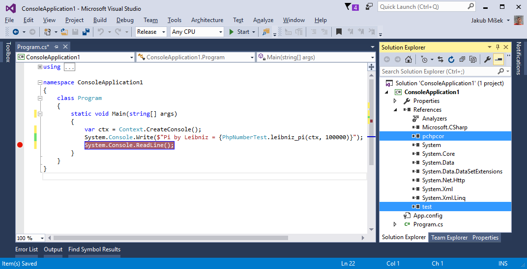 Adding test.dll and phpcor.dll to your C# project in Visual Studio