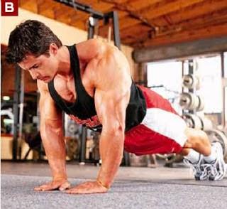 تمارين عضلات التراى للمبتدئين