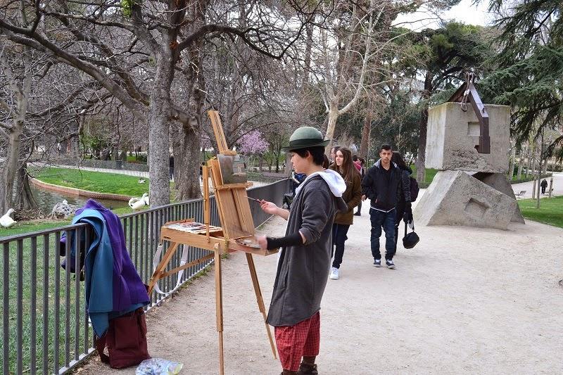 Madrid, Espagne, parc, retiro,
