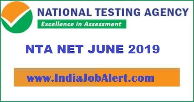 NTA - NET JUNE 2019 || Apply Online now
