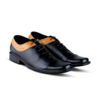 daftar harga sepatu pria terbaru Distro Bandung VR 395 Sepatu Formal Pria Untuk Kerja Kantor Kulit Sintetis - Hitam