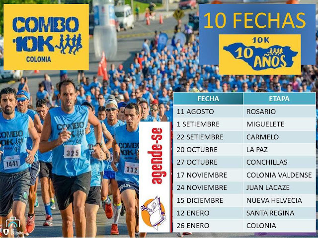 Calendario de carreras 10k 5k Combo Colonia 2018 - 2019