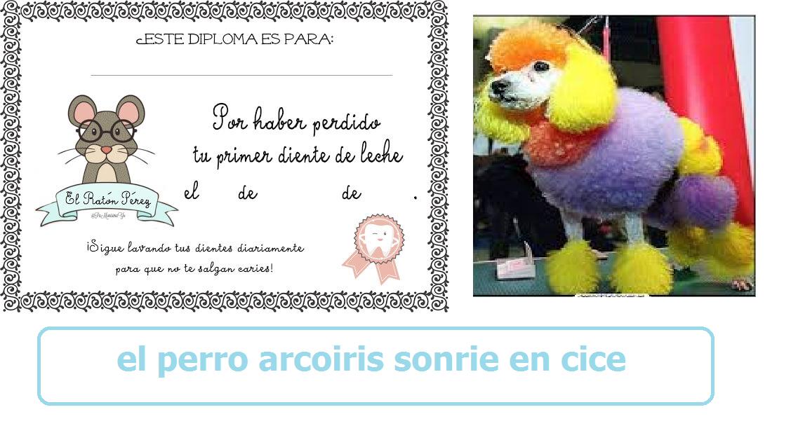 el perro arcoiris sonrie en cice visita madrid -ratoncito perez