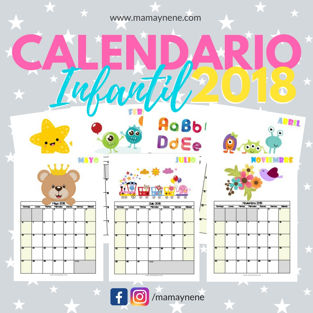 CALENDARIO-INFANTIL-PLANNER-MAMAYNENE-KIDS-FREEBIES