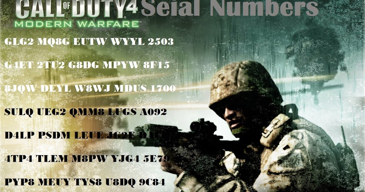 call of duty 4 free key code