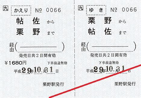 【9種類もの常備券!】JR九州 肥薩線栗野駅 発着駅常備往復乗車券(栗野⇔鹿児島中央など)