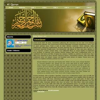 Al Quran Islamic Blogger Template