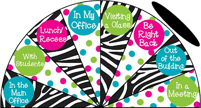 https://www.teacherspayteachers.com/Product/Zebra-and-Polka-Dots-Where-is-the-counselor-sign-variation-1-3275681