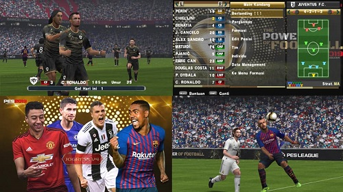 ISO Full Transfer Untuk Android dan PC  PES 2019 Jogress v4.1 ISO + Save Data PPSSPP Full Transfer