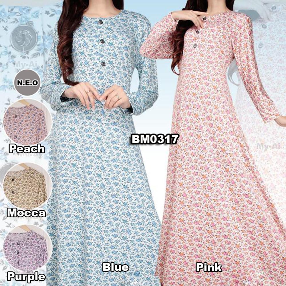 Bursa Grosir Busana Muslim Tanah Abang Bm0317 Long Dress