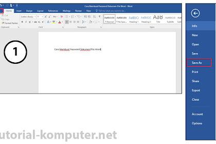 Cara Menciptakan Password Dokumen Word/Excel Di Microsoft Office 2013 Dan 2016