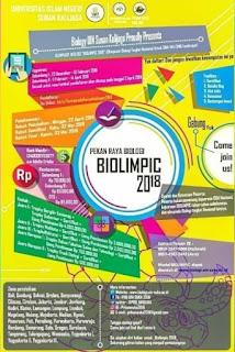 Olimpiade Biologi BIOLIMPIC 2018 by UIN Sunan Kalijaga