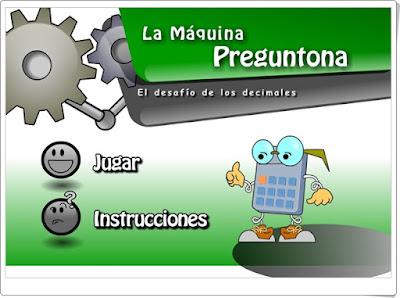 """La máquina preguntona"" (Números decimales de Primaria)"