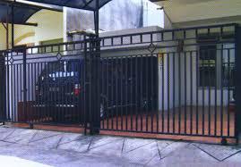 Pintu pagar minimalis tipe geser