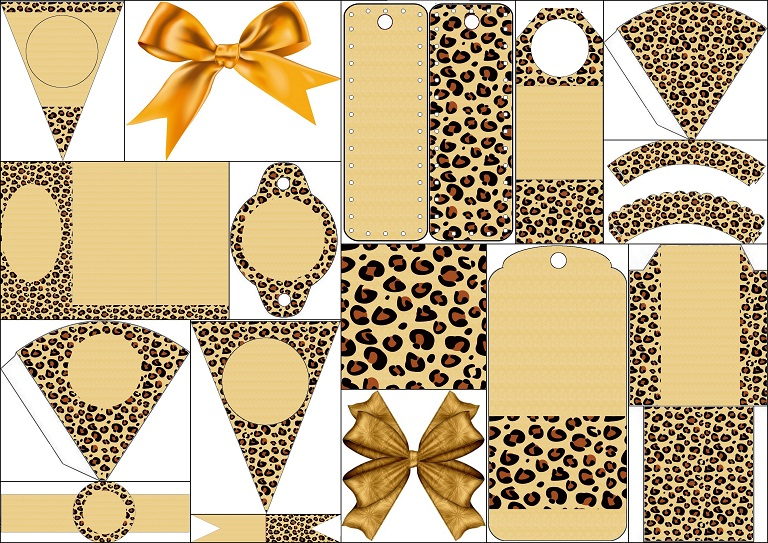 Leopard Prints: Free Printable Backgrounds and Party