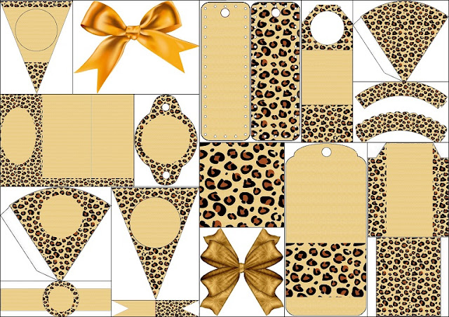 Leopard Prints Free Printable Backgrounds and Party Printables