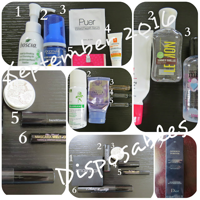 September 2016 Disposables