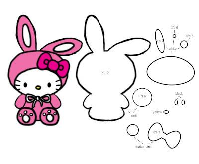 Bunny Hello Kitty TemplatePattern