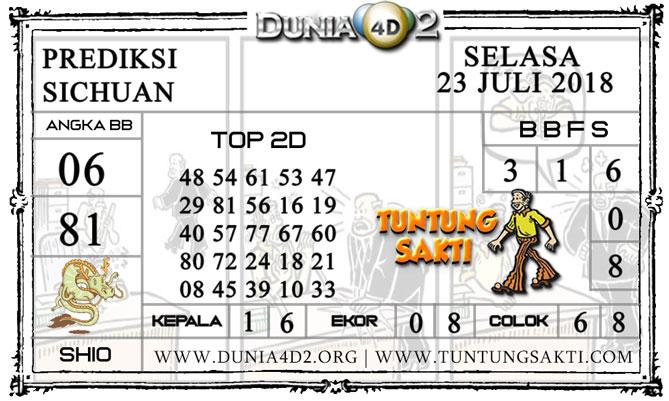 """Prediksi Togel """"SICHUAN"""" DUNIA4D2 23 JULI 2019"""