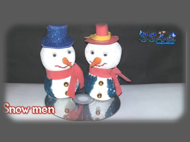 Here is christmas crafts for home decoration,how to make snowmen,best out of waste out of christmas ornaments,how to make christmas ornaments making at home,how to make foam snow men at home,recycled foam snow mens at home,how to make christmas crafts for home decoration,how to make snow men for christmas