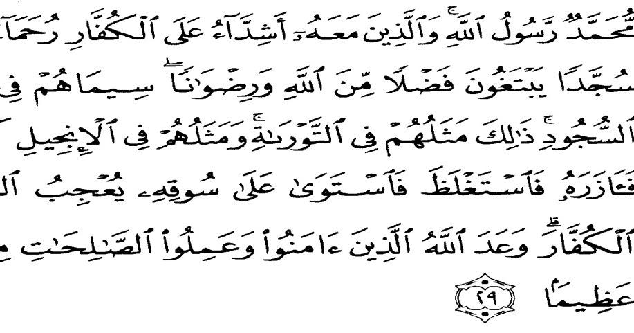 Dokumen Perkuliahan Makalah Tafsir Tarbawi Ii Tujuan Pendidikan Berdasarka Q S Al Fath 29 Dan Q S An Nisa 9