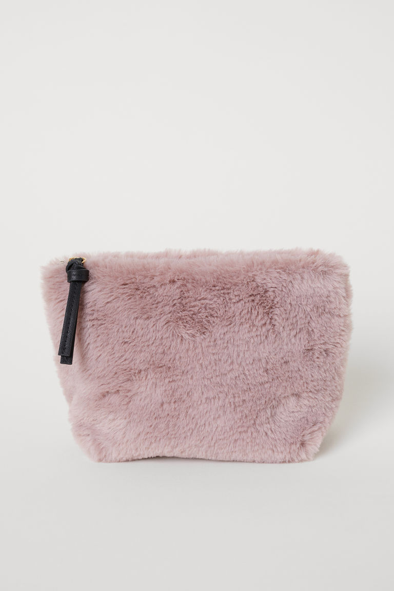 Fuzzy Makeup Bag
