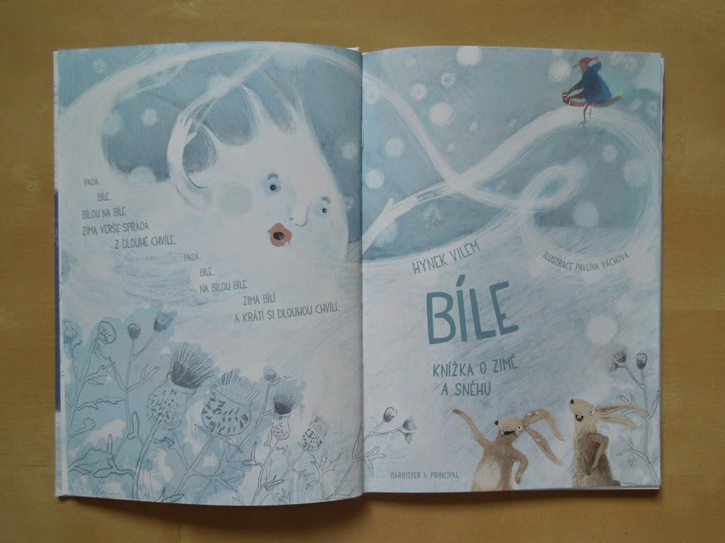 bile knizka o zime a snehu