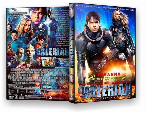 CAPA DVD FILME VALERIAN 2017